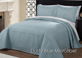 French Tile Dusty Blue Microfiber