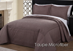 French Tile Taupe Microfiber