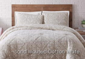 Brooklyn Loom Sand Washed Cotton White Sand