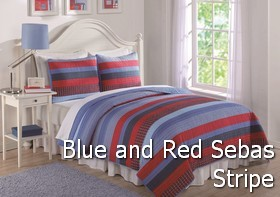 Blue and Red Sebas Stripe