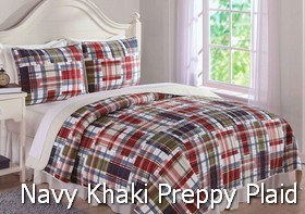 Navy Khaki Preppy Plaid