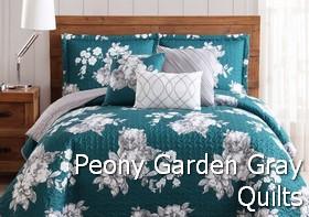 Peony Garden Gray Quilt Sets