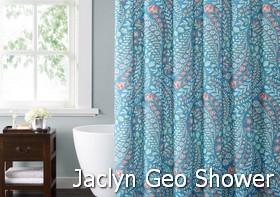 Style 212 Jaclyn Geo Shower Curtain