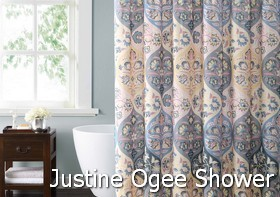 Style 212 Justine Ogee Shower Curtain
