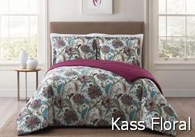 Style 212 Kass Floral Comforter Sets