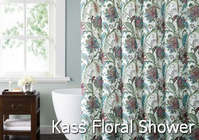 Style 212 Kass Floral Shower Curtain