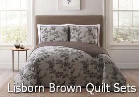 Style 212 Lisborn Brown Quilt Sets