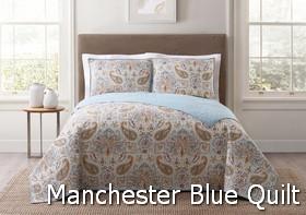 Style 212 Manchester Blue Quilt Sets