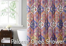 Style 212 Paloma Ogee Shower Curtain