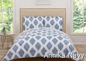 Truly Soft Annika Navy Comforter Sets