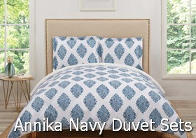 Truly Soft Annika Navy Duvet Sets