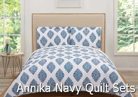 Truly Soft Annika Navy Quilt Sets