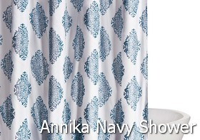 Truly Soft Annika Navy Shower Curtain