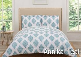 Truly Soft Annika Teal Comforter Sets