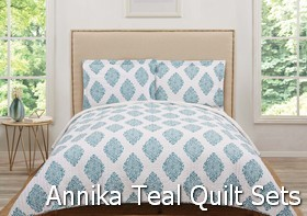 Truly Soft Annika Teal Quilt Sets