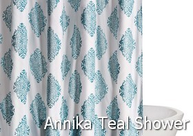 Truly Soft Annika Teal Shower Curtain