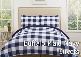 Truly Soft Everyday Buffalo Plaid Navy Duvet Sets