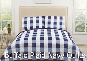 Truly Soft Everyday Buffalo Plaid Navy Quilt Sets