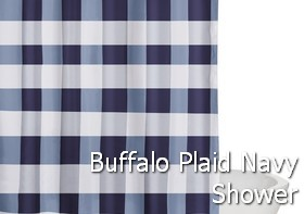 Truly Soft Everyday Buffalo Plaid Navy Shower