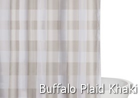 Truly Soft Everyday Buffalo Plaid Khaki Shower