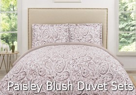Truly Soft Watercolor Paisley Blush Duvet Sets
