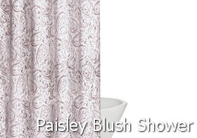 Truly Soft Watercolor Paisley Blush Shower Curtain