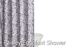 Truly Soft Watercolor Paisley Eggplant Shower