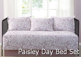 Truly Soft Watercolor Paisley Day Bed Set