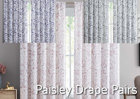 Truly Soft Watercolor Paisley Drape Pairs