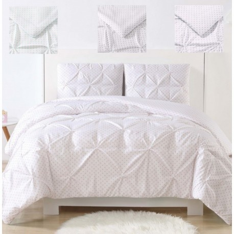 Laura Hart Kids Dot Pinch Pleat Comforter Set
