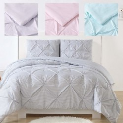 Laura Hart Kids Stripe Pinch Pleat Comforter Set