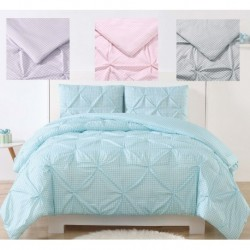 Laura Hart Kids Gingham Pinch Pleat Comforter Set