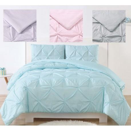 Laura Hart Kids Gingham Pinch Pleat Comforter Set