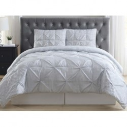 Truly Soft Everyday Gingham Pleat Comforter