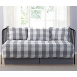 Truly Soft Everyday Buffalo Plaid Grey Day Bed Set