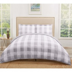 Truly Soft Everyday Buffalo Plaid Grey Duvet Sets