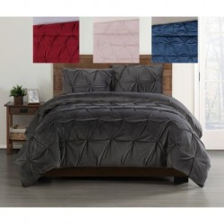 Truly Soft Everyday Pleated Velvet Duvet Sets