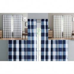 Truly Soft Everyday Buffalo Plaid Drape Pairs