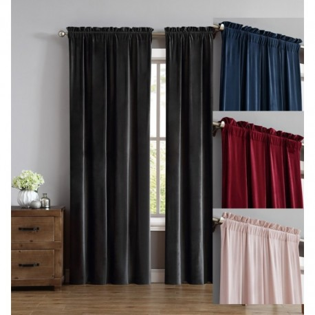 Truly Soft Everyday Pleated Velvet Drape Sets
