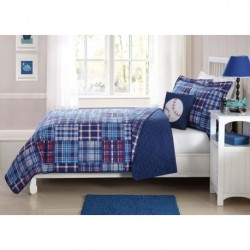 Laura Hart Kids Navy Plaid Patch