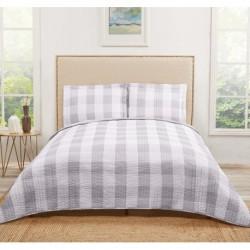 Truly Soft Everyday Buffalo Plaid Grey Quilt Sets