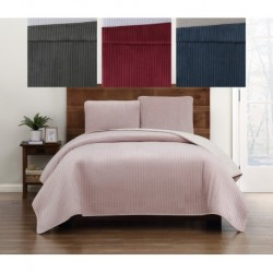 Truly Soft Everyday Velvet Pick Stitch Quilt Sets