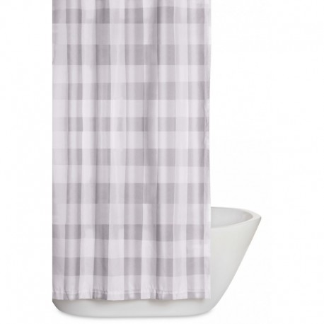 Truly Soft Everyday Buffalo Plaid Grey Shower