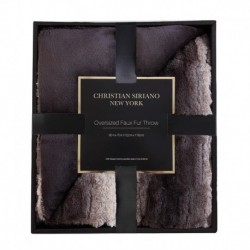 Christian Siriano Black Giftable Boxed Throw