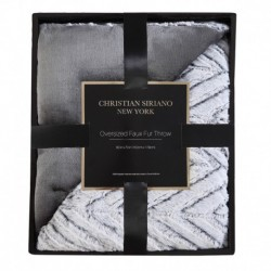 Christian Siriano Grey Chevron Gift Boxed Throw
