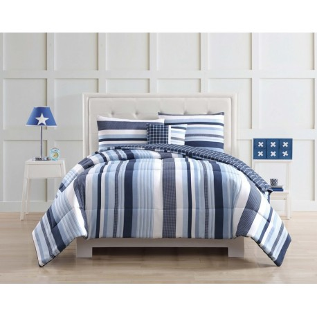 Laura Hart Kids Mason Stripe Comforter Set