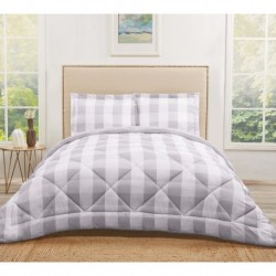 Truly Soft Everyday Buffalo Plaid Grey Comforters