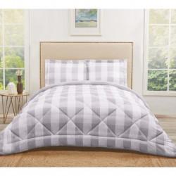Truly Soft Everyday Buffalo Plaid Grey Comforters